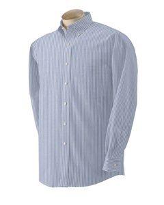 - Van Heusen 57800 Mens Classic Long-Sleeve Oxford - Blue & White Stripe, Extra Large