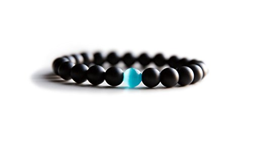 (Benevolence LA Unisex Bracelet Semi-Precious Natural Stones - Handmade 8mm Beads for Charity (Small, 6.5 Inch))