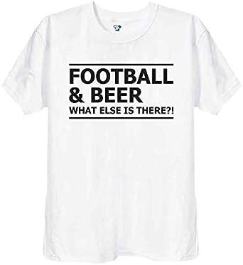 Fútbol y cerveza, ¿Qué más hay? Camiseta divertida para hombre, unisex, color negro o blanco, 228 Blanco blanco S: Amazon.es: Ropa y accesorios
