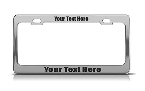 Product Express Car SUV Truck Custom Personalized Chrome License Plate Frame Cooper Tag Chrome