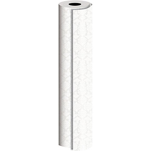 JAM Paper® Industrial Size Bulk Wrapping Paper Rolls - Pearl Damask Design - 1/2 Ream (1042.5 Sq Ft) - Sold Individually by JAM Paper