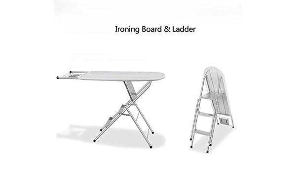 Plegado hogar tabla de planchar Tabla de escalera plegable Juntas Inicio de planchado percha multifuncional Plancha plegable Cargando Peso 150 kg (Color: Gris, Tamaño: 106x34x85cm) Tabla de planchar: Amazon.es: Hogar