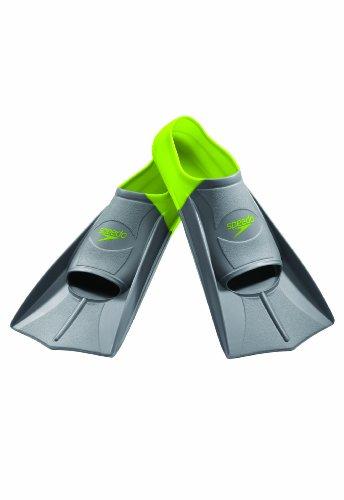Speedo Short Blade Swim Training Fins, Fluorescent, - Chart Swim Fin Size
