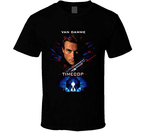 Timecop Van Damme 90's Action Movie T Shirt Black