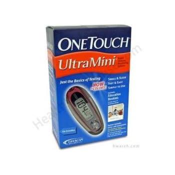Amazon Com Onetouch Ultramini Blood Glucose Monitoring
