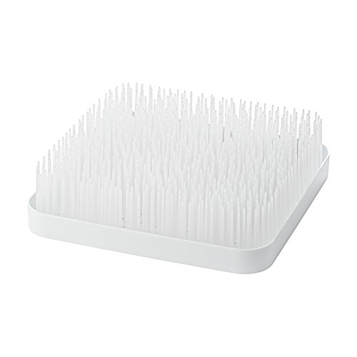 Boon 9.5 GRASS COUNTERTOP DRYING RACK, Winter White/Clear