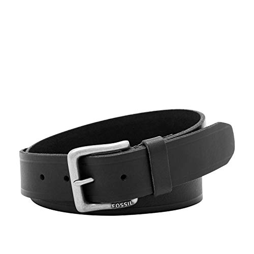 Fossil Men's Kit Leather Belt, Black