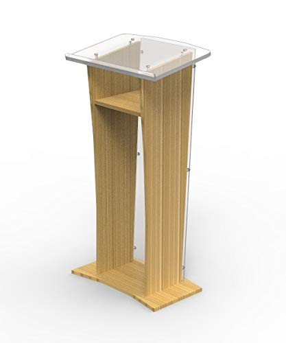 FixtureDisplays Wood Podium with Clear Front Panel, for sale  Delivered anywhere in USA