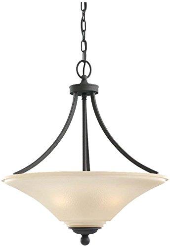 376-839 Three-Light Pendant, Cafe Tint Glass, Blacksmith Finish (Somerton Pendant Light)