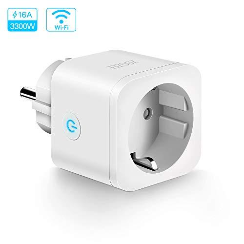 Enchufe Inteligente WiFi Smart Plug Control remoto zoozee Toma de corriente inalámbrica para iOS Aplicación de Android Compatible con Google Home Amazon Alexa IFTTT