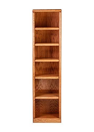 - Forest Designs HFF-B6144-BW Standard Bookcase, 18W x 13D x 72H, Whitewash Alder
