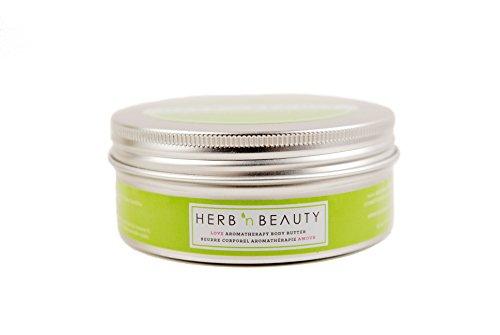 Aphrodisiac Herbs - Herb N' Beauty Rose, Vanilla & Jasmine LOVE Aromatherapy Body Butter, 250 mL