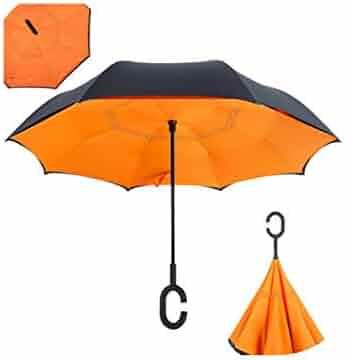 32931374b Wenzi-day Folding Reverse Umbrella Double Layer Inverted Windproof Rain Car  Umbrellas For Women Man