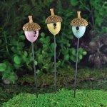 Fiddlehead fairy garden Accessories - Acorn bird houses set of 3 by Fiddlehead