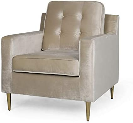 Christopher Knight Home Warren Modern Glam Tufted Velvet Club Chair