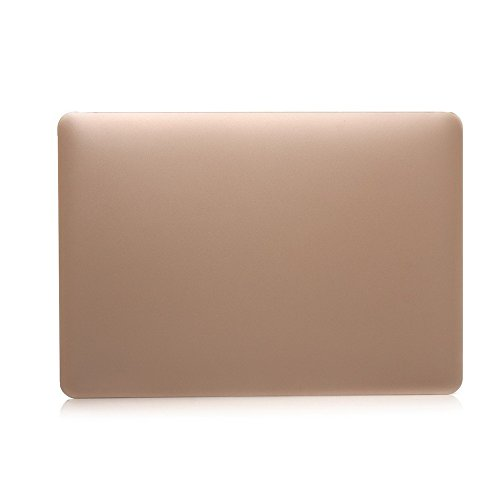 Applefuns(TM) 4 in 1 Kit Matte Hard Shell Case + Keyboard Cover + Screen Protector + Palm Rest Protector for Apple The New Macbook 12 inch with Retina Dispaly (Metallic Gold)