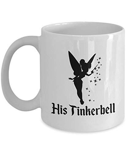 Disney His Tinkerbell Gift Mug Her Peter Pan Wendy Tink Coffee Cup Couple Love Gifts- Coffee Mug, Tea Mug, Cute Mug - Gift, cute gift, Souvenir, 11oz, 15oz