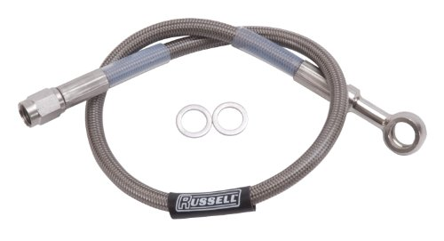 """Russell 657022 Endura 10mm Banjo to Straight -3AN Brake Hose Assembly - 12"""""""