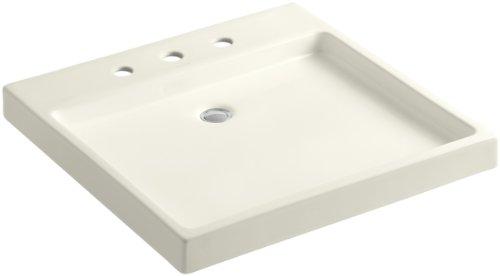 (KOHLER K-2314-8-96 Purist Wading Pool Bathroom Sink, Biscuit)