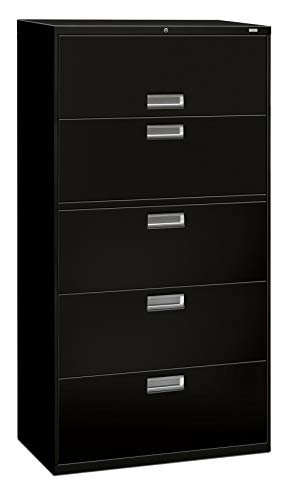 36 Inch Wide 5 Drawer - The HON Company H685.L.P HON685LP HON 685LP 600 Series 36-Inch by 19-1/4-Inch 5-Drawer Lateral File, Black