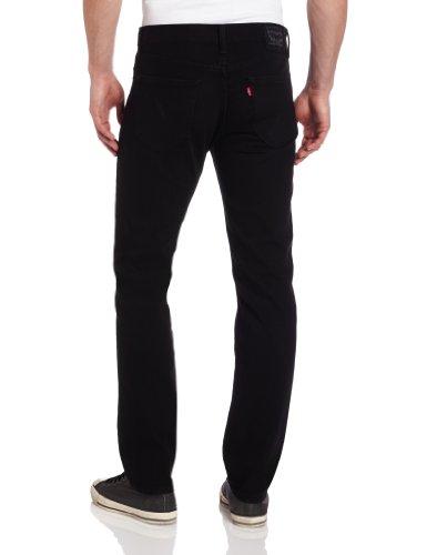 Levi's Men's 511 Slim Fit Jean, Black - Stretch, 32W x 32L