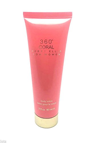 perry-ellis-360-coral-body-lotion-for-women-3-oz-free-name-brand-sample-vial-with-every-order