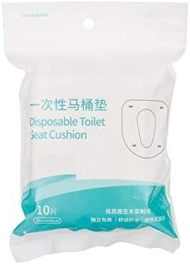 使い捨て防水トイレパッドトラベルクッションペーパー10パック 使い捨て便座カバー 旅行パッド入り防水