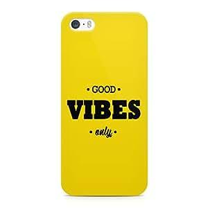 Loud Universe Good Vibes Sleek Design Durable Wrap Around iPhone SE Case - Yellow