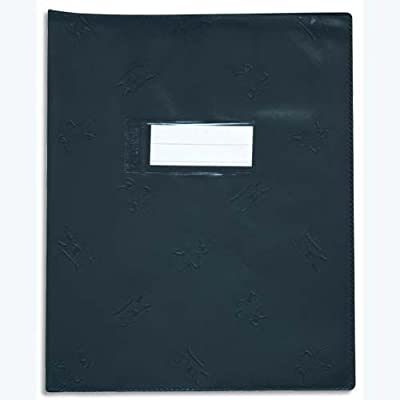 1 Protège cahier noir 17x22cm picto