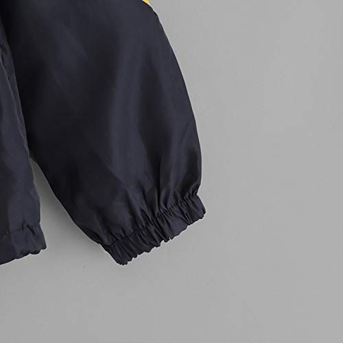 À Gris Capuche Casual Nouvelle S Tops Femmes Manteau Automne Toogoo Irrégulier Hiver Vêtements Veste Jaune Dames Couleur Contraste Outwear Manteau Pour Mode 0E8Hq6