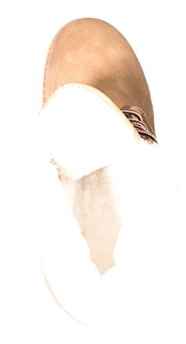 Elara - botas estilo motero Mujer caqui
