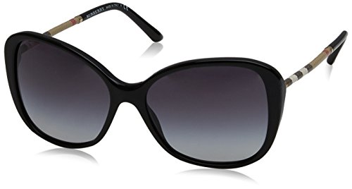 Burberry BE4235Q 30018G Black BE4235Q Butterfly Sunglasses Lens Category 3 - Burberry Sunglasses