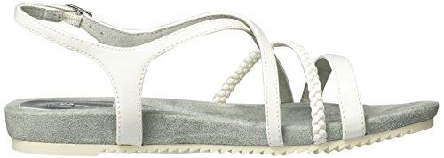 Tamaris 28106, Sandalias con Cuña para Mujer Blanco (White Patent 123)