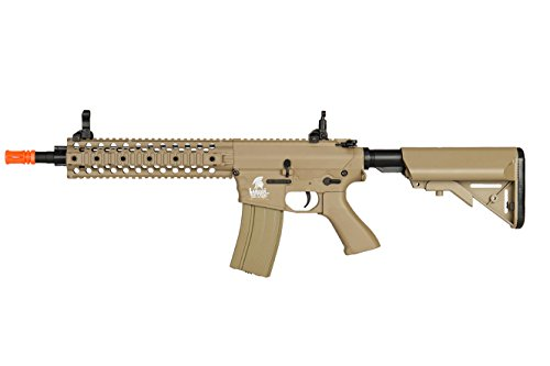 Lancer Tactical Airsoft LT-12T RIS EVO Metal Gearbox AEG - TAN Aeg Metal Gearbox