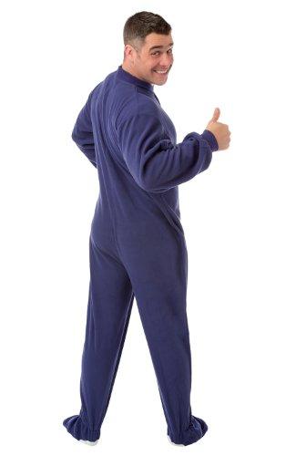 - Big Feet Pajama's Purple Micro-Polar Fleece Adult Footed Pajamas Onesie