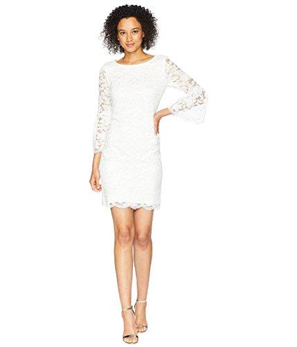 - Nine West Women's Short Bell Sleeve Dress Ivory 8