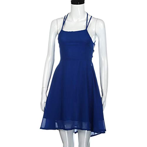 Cocktail Party Gown Women's Mini Dress Sleeveless Falda NREALY Blue Bandage Backless tqFEcU