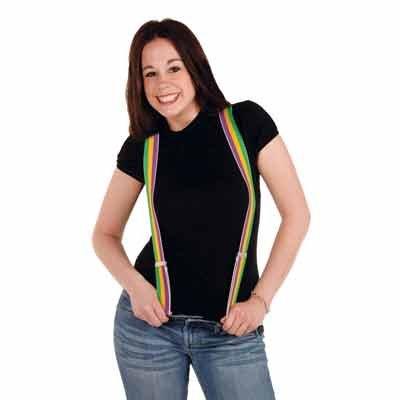 Mardi Gras Suspenders (adjustable) Party Accessory  (1 count) (1/Pkg) ()