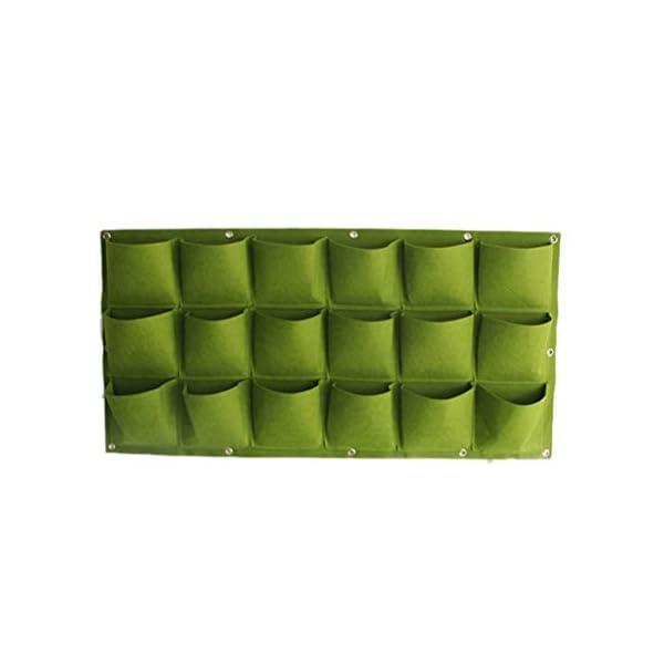 Stylelove Sacco per Piantare Appeso A Parete, 18 Tasche Verde Fioriera per Piantare Fioriera Verticale Giardino Orto… 2 spesavip