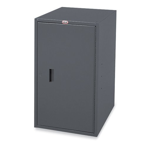 "Edsal 605 Custom Modular Bench Cabinet Pedestals with Steel Shelf, Pre-Assembled Assembly Type, 15"" W x 20"" D x 27"" H, Industrial Gray"