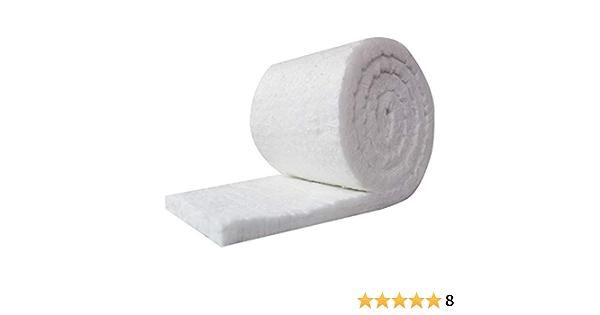 2 in Thick Ceramic Fiber Insulation 4 ft 2 in x 24 in 6 cu ft//lb Insulation Density