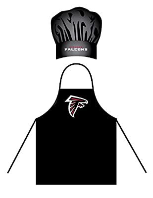 Atlanta Falcons Men's Apron & Chef Hat Barbecue BBQ Cooking Grilling Football