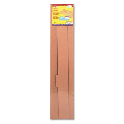 TREND T7003 File 'n Save System Trimmer Storage Box Dividers, 39 x 4-1/4, 3/Pack
