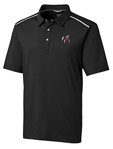 Cutter and Buck Georgia Bulldogs Standing Dawg Drytec Fusion Polo-Large Black ()