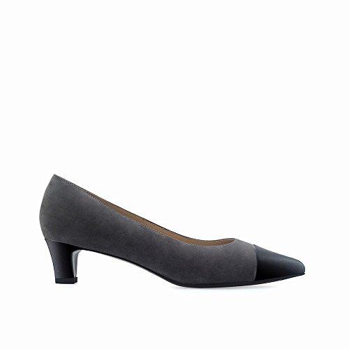 Nano superficiale Grigio molto superficiale con DHG bocca basse splicing a scarpe punta 35 scarpe con zUqqwdOT