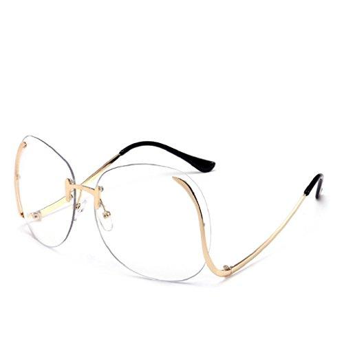 Zombie Facepaint (Willsa Women Unisex Fashion Retro Glasses Vintage Aviator Mirror Lens Sunglasses (Clear, 6.5))
