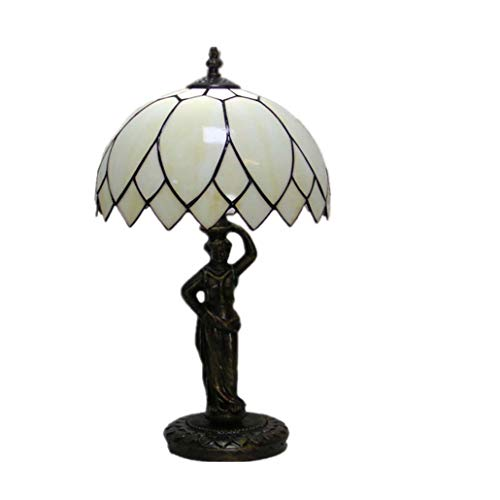 GLMAMK Tiffany Style Table Lamp,Lotus Leaf Euro Create Stained Glas Desk Light,Bedroom Bedside Light Living Room Study Bar Cafe Decorated Motif Light
