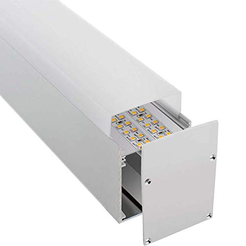 2 metros Perfil aluminio NORLUX para tiras LED KIT