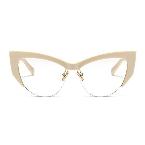 C1 Vintage de lunettes Cateye Eye Rimmed Retro Fuyingda Lunettes Half pour Cat soleil femmes waYqO6xpO