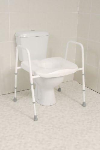 Mowbray Extra Breiter Toilettensitz und Toilettengestell freistehend